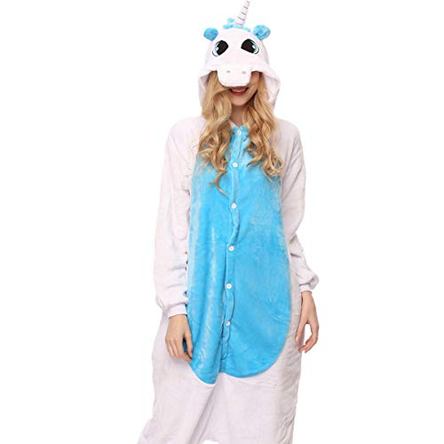 (Fancyland Stitch Kostüm,Jumpsuit Tier Cartoon Fasching Halloween Kostüm-Anzug Onesie Fleece-Overall Pyjama)