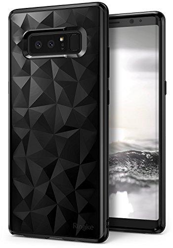 Ringke Air Prism Kompatibel mit Galaxy Note 8 Hülle, Ultra Chic Dünn Schlagfest Cover Geometrisches Kratzfest Flexible TPU Silikon Panzer Case Schutzhülle für Galaxy Note 8 (2017) - Ink Black Schwarz