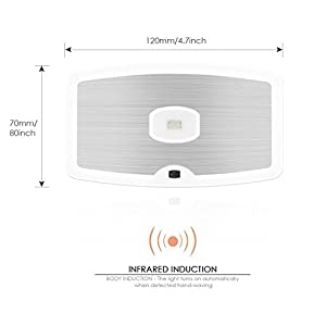 Deckey PL903IS Natural Daylight LEDshand wave PIR Motion Sensor Wall 3 LED Lights, Powered Motion Sensor Lights, On/Off, Motion Sensor Light from Deckey