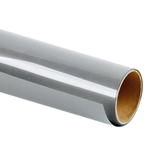 RUSPEPA 50 X 30,48 cm Reflektierende Htv Wärmeübertragung Vinyl Silber Farbe Groß Für Fahrwerk, Reflektieren Logos, Briefe Wie Polizei Etc. - Großes Fahrwerk