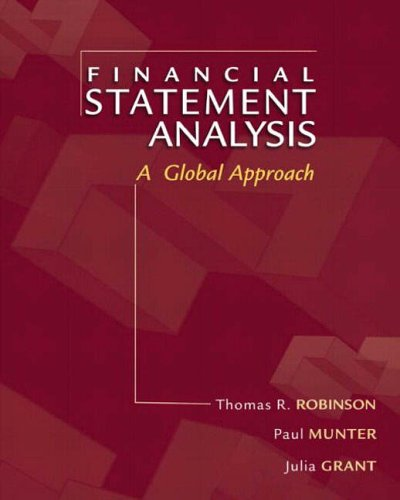 Financial Statement Analysis: A Global Perspective: International Edition