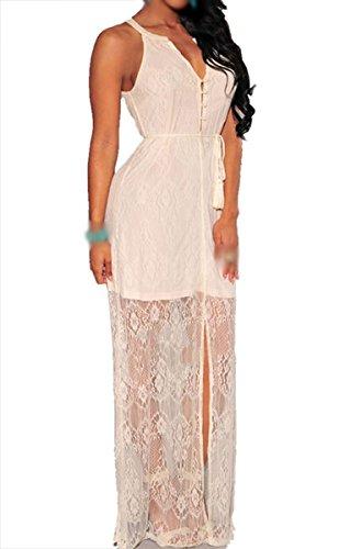 Dissa® FOB60125 femme Robes de Soirée cocktail Blanc