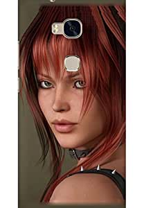 AMEZ designer printed 3d premium high quality back case cover for Huawei Honor 5X (Beautiful Girl)