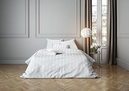 Mistral Home lenzuola Satin Stripe White 80x 80+ 155x 220cm (120043)