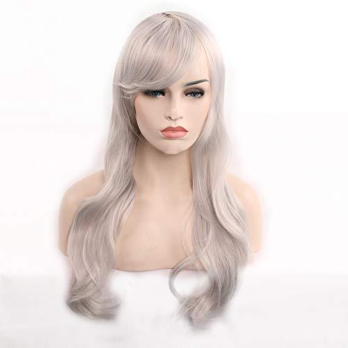 Licy Life-UK Mädchen/Damen Perücken Fashion Hitzeresistente Synthetik Gewelltem, Perücken Natürlich aussehende Glueless Wavy Gemischt Perücke,für Party,Cosplay,70/80CM