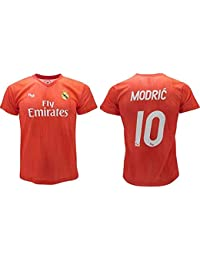 834a34793 Maglia Ufficiale Real Madrid Modric Rossa Third 2018 2019 in Blister Regalo  (L)