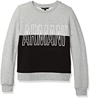 A|X Armani Exchange Women's Two Colored Sweatshirt Logo in Front and