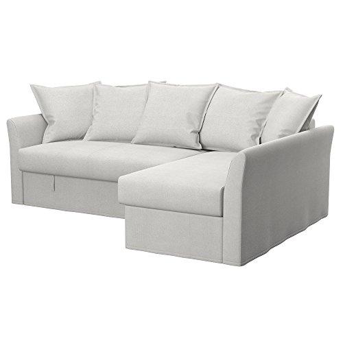 Soferia - ikea holmsund fodera per divano letto angolare, glam beige