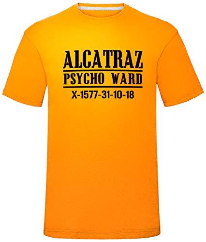 Herren Halloween Alcatraz Convict T-Shirt (Klein (Brust 38