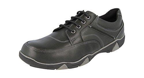 dB's Herren extra breit und tiefer Schnürer Freizeit Schuhe in 2V Passform (2e-4e) schwarz - Schwarz, 9 UK / 43 EU / 10 US (4e Breite Schuhe)
