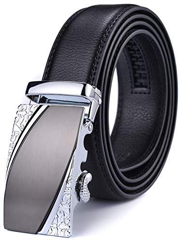Xhtang Gürtel Herren Automatik Gürtel mit Automatikschließe-3,5cm Breite (Länge 115cm Geeignet für 30-36 taille, Schwarz33) (Gürtel Herren 36)