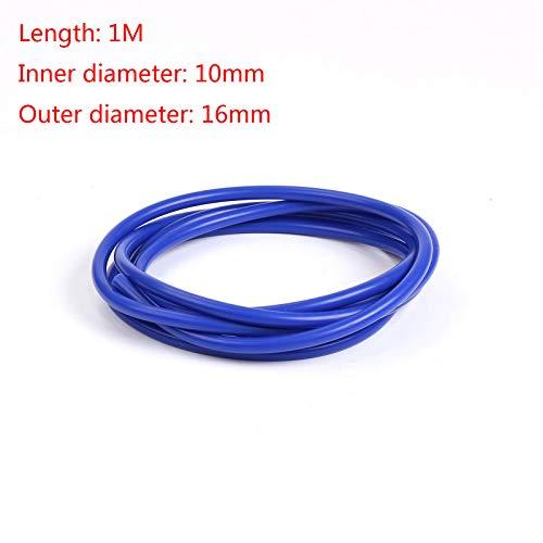 elegantstunning - Tubo di aspirazione in Silicone per Auto, 1 m, 3 mm, 4 mm, 6 mm, 8 mm, 10 mm, 14 mm, Colore: Blu