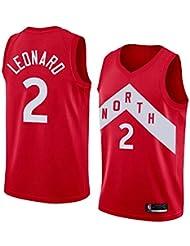 Kawhi Leonard Maglia Uomo - NBA Maglia da Giocatore Toronto Raptors #2 Swingman Jersey Abbigliamento da Basket T-Shirt Senza Maniche