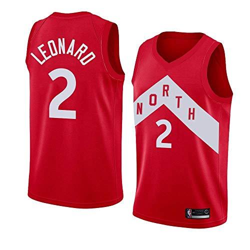 Basketballtrikot für Herren - NBA Jeresy Toronto Raptors #2 Kawhi Leonard Swingman Edition Mesh Basketball Fan-Trikots T-Shirt Ärmellos Unisexe Sportswear Toronto Raptors-fan