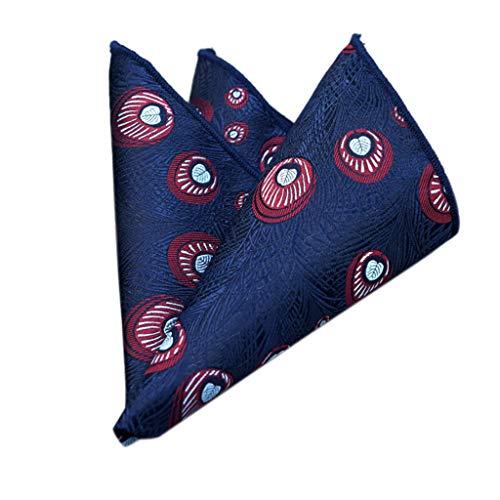 Wascoo Pañuelos de bolsillo Hombre de 25 x 25 cm para ocasiones especiales Pañuelo de Puntos Cuadrado Pañuelo de Bolsillo de Traje de Hombres para Boda