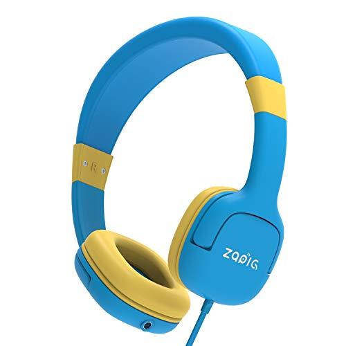 ZAPIG kopfhörer für Kinder mit 85dB Lautstärkebegrenzung Gehörschutz & Musik-Sharing-Funktion, Faltbare Kinderkopfhörer - Blau