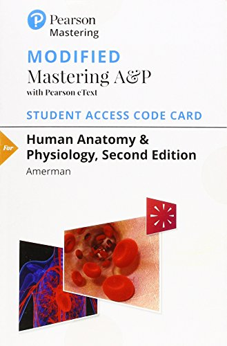 Human Anatomy & Physiology Modified Mastering A&P With Pearson eText Access Card por Erin Amerman