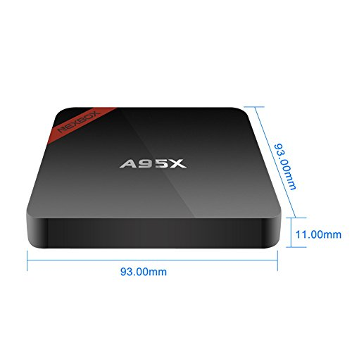 Kasit Android 6.0 4K TV-Box A95X Pro Amlogic S905X Quad Core 2G / 16G KODI 16.1 Vorinstallierte Unterstützung VP9 HDR HEVC Rooted Streaming Media Player 2.4G / 5G Dual-Band Wifi BT 4.0 mit Spdif(Euro-Stecker) - 7