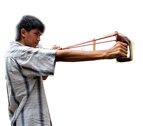 Jagd Outdoor Sport Zwille, handgefertigt, Holz, thailändisches Sling ca. 2,5 cm x 13.97 esshot Jagd Katapult Unterstützung für shot