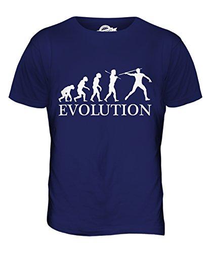 CandyMix Speer Evolution Des Menschen Herren T Shirt Navy Blau