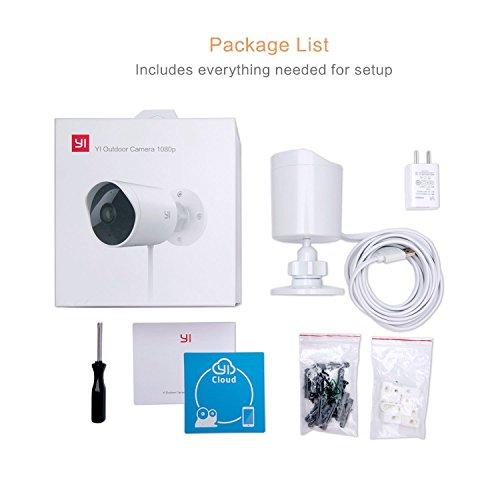 YI Telecamera da esterno Camera IP da Esterno 1080p Videocamera di Sorveglianza Outdoor Impermeabile IP65 Telecamera di Sorveglianza con Audio Bi-Direzionale, Visione Notturna (Bianco) - 7