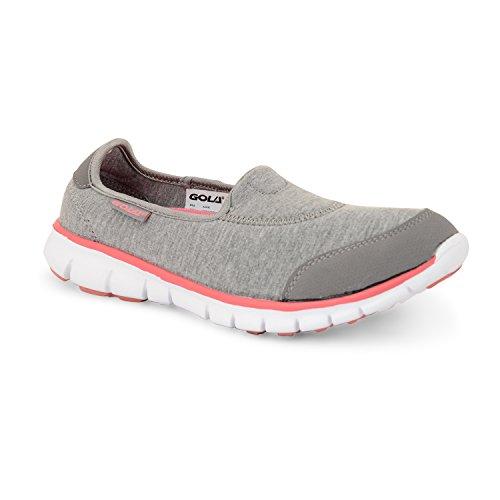 Gola Active Termas, leichtgewichtig, atmungsaktiv, Athletic Damen Sneaker Grey Pink White
