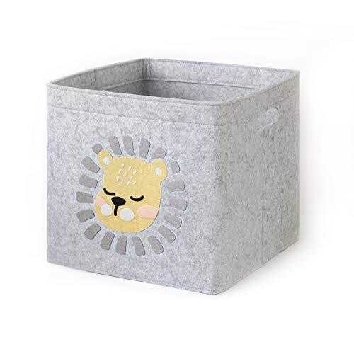 Aufbewahrungskorb Kinder Zimmer/Spielzeug Korb LuckySign-Care (Junge Löwen)