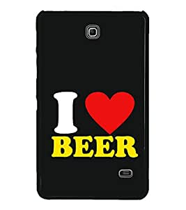 Fiobs High Glossy Designer Phone Back Case Cover Samsung Galaxy Tab 4 (7.0 Inches) T230 T231 T235 LTE ( I Love Beer Quotes )