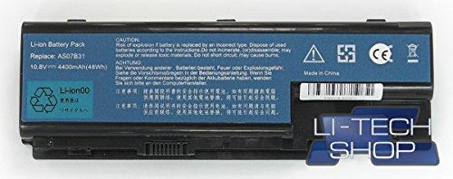 LI-TECH Batterie kompatibel 10.8v 11.1V 6 Zellen für acer Aspire AS-8735G-744G64MN 4.4Ah