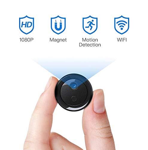 Mini Kamera Überwachungskamera FREDI WLAN HD 1080P Tragbare WiFi IP Kamera mit Bewegungsmelder/Mikrofon/Videoaufzeichnung/für iPhone/Android/iPad