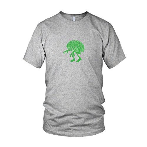en T-Shirt, Größe: M, Farbe: grau meliert (Professor X Halloween Kostüm)
