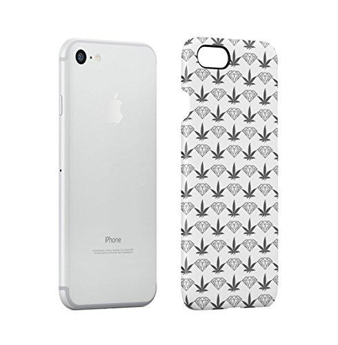 Diamonds Vs Weed Apple iPhone 7 Snap-On Hard Plastic Protective Shell Case Cover Custodia Weed Diamond