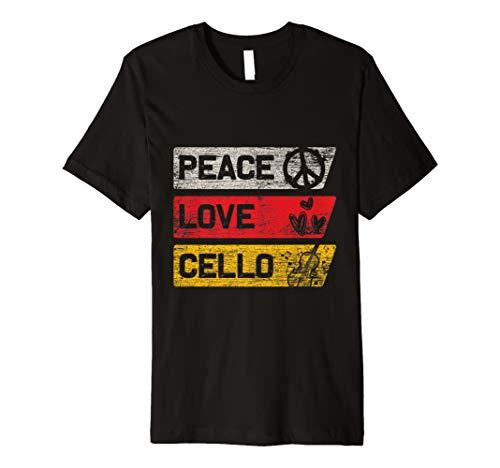 Frieden, Liebe T-shirts (Frieden Liebe Cello T-Shirt)