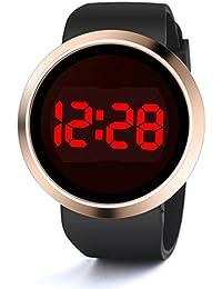 Longra Reloje ☀Moda impermeable LED de pantalla táctil del día Fecha Silicona reloj de pulsera (Negro)