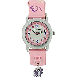 Cannibal Kid's Quartz Watch with White Dial Analogue Display and Pink Plastic or Pu Strap CK225-14
