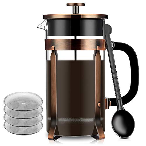 ee Presse Maker Glas French Press Kit Maschine (8 Tasse, 1 Liter, 34 oz) für Kaffee Tee Camping Büro ()