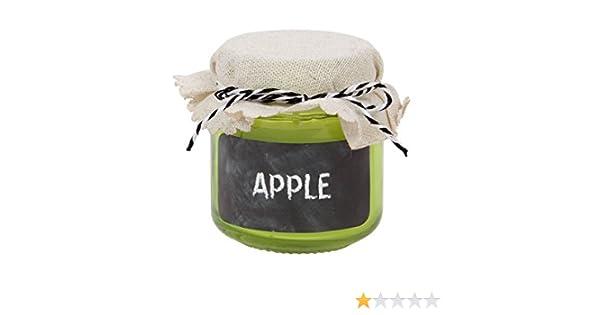 d/écor/é dun dun Joli Couvercle en Tissu Parfum est Puissant Longue dur/ée d/écoration Bougie parfum/ée coul/ée dans Son photophore en Verre r/éutilisable en Forme de Pot /à Confiture 144127 Apple