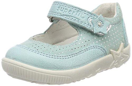 Für Ballerina-schuhe Baby-mädchen (Superfit Baby Mädchen Starlight Lauflernschuhe, Blau (Aqua Kombi), 22 EU)