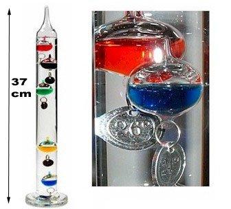 Infactory termometro di galileo 37 cm complemento d'arredo