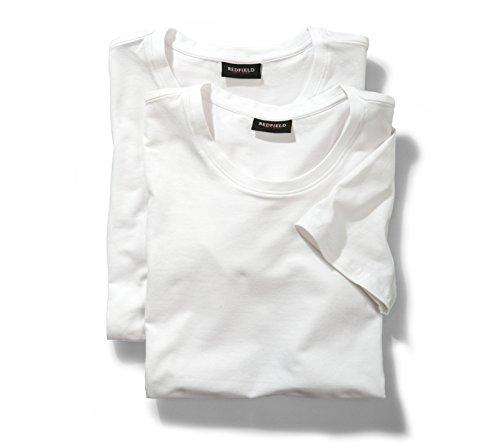 Doppelpack T-Shirts in weiß in großen Größen von XL bis 8XL Weiß
