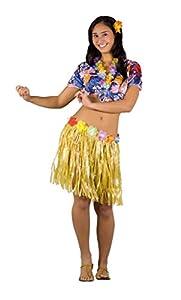 FIORI PAOLO-hawaiana disfraz mujer adulto Womens, multicolor, talla 40-42, 62080