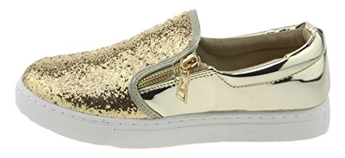 Catisa RW710 Slip-On Glitzer gold Gold