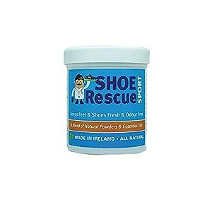 Schuh-und Fußpuder 100g – Fußgeruch-Entferner und Eliminator – Entwickelt von einem registrierten Fußpfleger Shoe Rescue ist ein völlig natürliches Mittel um stinkende Schuhe und Füße zu beseitigen.