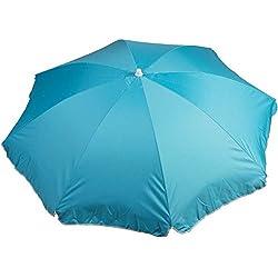 WDK Partner Parasol DIAMETRE 140 CM Polyester Bleu, 7x7x85 cm