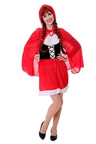 DRESS ME UP - Kostüm Damen Damenkostüm Sexy Rotkäppchen Red Riding Hood Gr. S / M (Wolf Riding Hood Red)