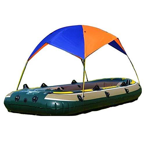 FADDR Aufblasbare Kajak-Markise Baldachin - 2 Personen Faltbares Boot Zelt/Segelboot Markise Obere Abdeckung/Regen Baldachin Angeln Camping Sonnenschutz Shelter Kit(wie Gezeigt)