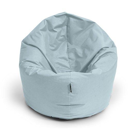 Sitzsack BuBiBag M - XXL 2-in-1 Funktionen mit Füllung Sitzkissen Bodenkissen Kissen Sessel BeanBag (145cm durchmesser, grau)