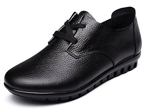 Fangsto Oxford, Chaussures à lacets fille femme - Multicolore - noir, 38 2/3