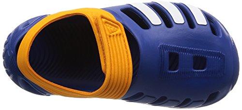 Adidas bambini Badelatschen Flex Zee Swim sandali Multicolore (Azul / Blanco / Naranja (Eqtazu / Ftwbla / Eqtnar))