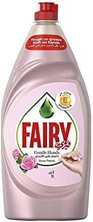 Fairy Gentle Hands Rose Petals Dishwashing Liquid Soap, 1L